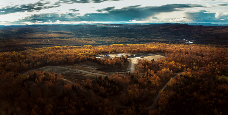 Aerial photo of an autumn landscape