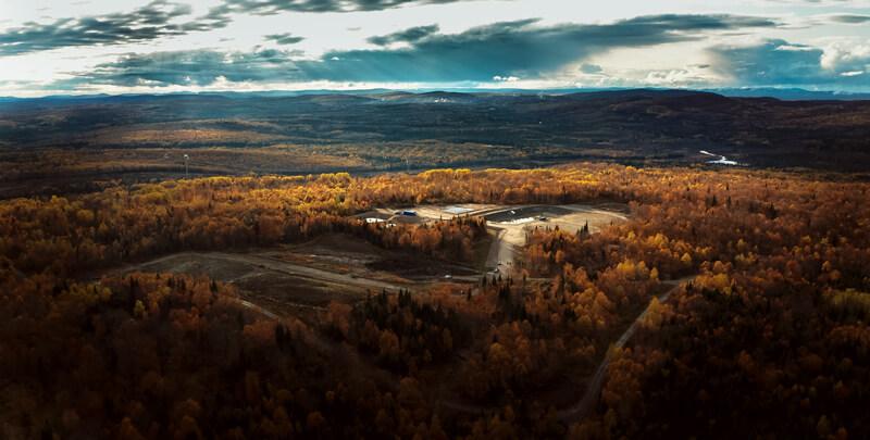 Photo aérienne d'un paysage d'automne