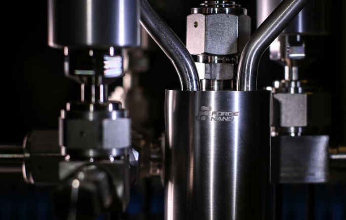 Close-up of an equipment of Forge Nano