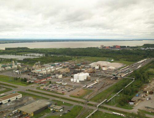Rapport d'avancement pour les phases 1 et 2 des usines de matériel d'anode pour batteries de Nouveau Monde à Bécancour
